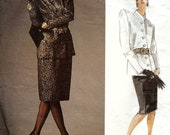 PATTERN Vogue 1817 Jacket and skirt Size 10 Yves Saint Laurent Vogue Paris Original
