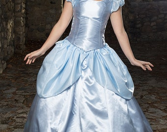 Cinderella Costume, Adjustable and Washable Adult Cinderella Cosplay, Princess Halloween Costume, Cinderella Halloween, Princess Party