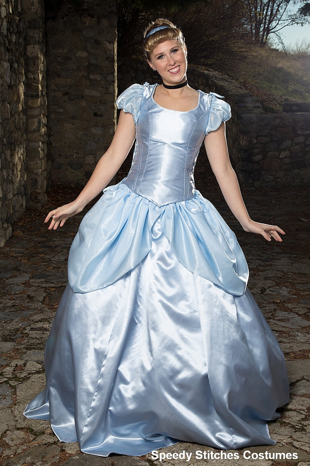 Cinderella Costume Adjustable and Washable Adult Cinderella