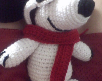 The Red Baron Snoopy crocheted doll