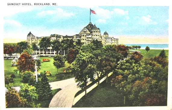 Post Cards 1930s Maine Samoset Hotel Rockland ME Postcard
