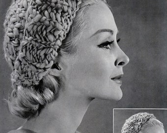 Knit Beanie and Balaclava 1960's Vintage Knitting PDF PATTERN