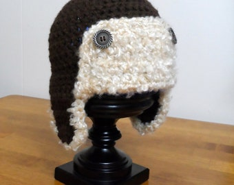 Aviator Bomber Hat - Crochet Pattern 45 - Newborn to Adult - INSTANT download - US and UK Terms