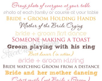 Custom Printable I Spy Wedding Photos Card Digital File