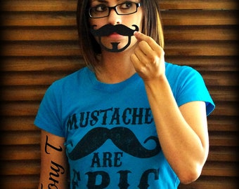 Mustache Goatee- Vinyl Decal - The Tony T-Little Man Party-Mustache Sticker-Mustache decal-Mustache Theme-Little Man