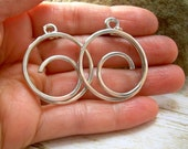 Wire Wrapped Jewelry Handmade.Silver Wire Earrings Silver Wire Jewelry Hoop Earrings Aluminum Earrings Spiral Earrings