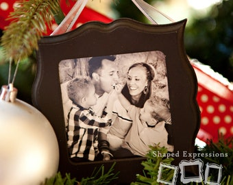 READY TO SHIP - 4x4 Love Struck unfinished picture frame - makes a great Christmas ornament