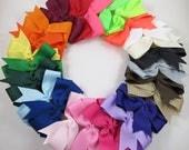 Back to School Hair Bow Set - Pinwheel Hair Bows - Gift - Pink White Black Blue Green Yellow Purple Orange Red Brown Neon - YOU PICK 20 BOWS