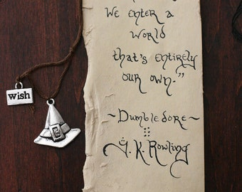 Letter From Hogwarts parchment bookmark
