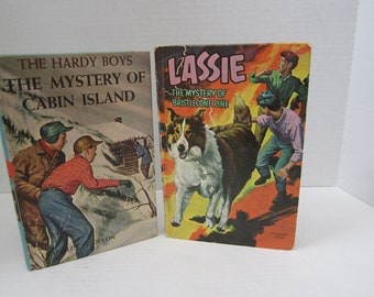 """Two Vintage Children's Books """"Lassie and The Hardy Boys"""" C.1967"""