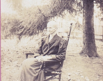 """Ca. 1908 """"Grandma in Rocker"""" Real Photo Post Card - 904"""