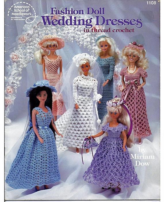 Barbie Fashion Doll Wedding Dresses Crochet Doll Pattern Book