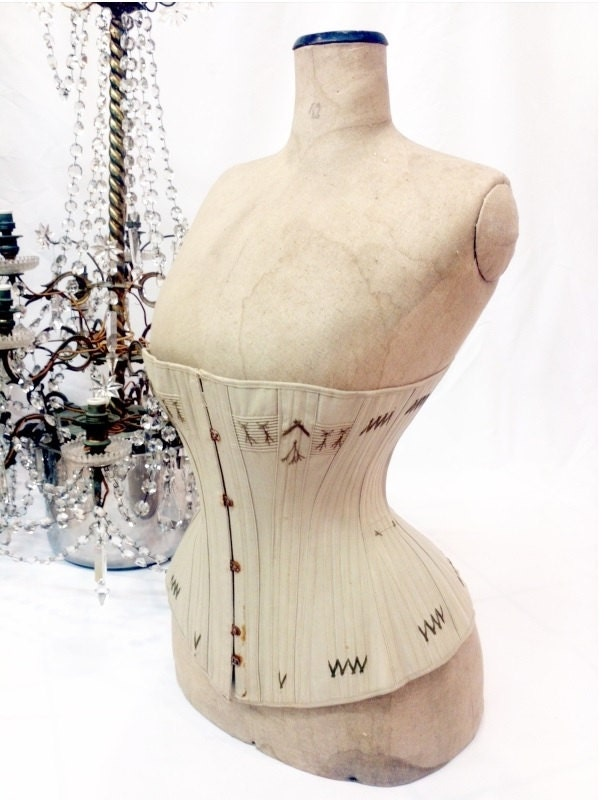 FINAL SALE Extremly rare late 1800s corset // antique