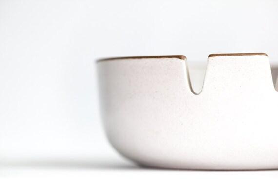 RESERVED White Ceramic Vintage Ashtray Edith Heath California Medium RESERVED