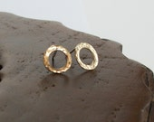 Simple 14K Yellow Gold Circle Earrings