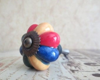 Wine Bottle Stopper - Vintage Multi-Colored Wine Stopper