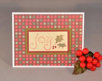 Joy of Christmas Handstamped Holiday Cards (Set of 3)