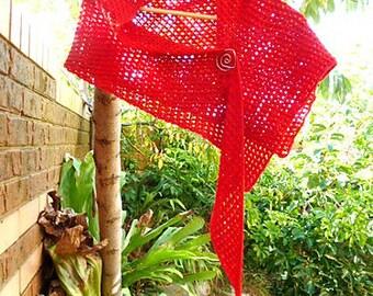CROCHET PATTERN - crochet shawl - Tunisian crochet shawl - crochet long scarf - crochet lacy scarf - shawl tunisian pattern - simple crochet