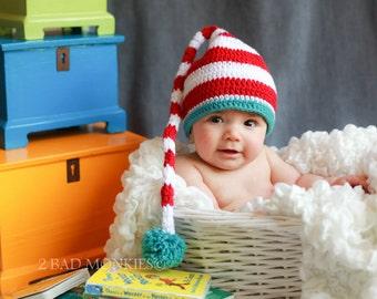 Baby hat, Dr Seuss Baby Hat, newborn hat, Toddler boy hat, Toddler hat - Newborn photo props, Photography props