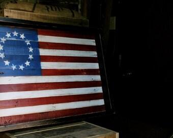 Wooden Wall Art, Vintage American Flag Wall Art, Reclaimed wood wall art, wooden art, wood art, American Flag, wooden flag