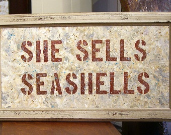 She Sells Seashells - original acrylic painting