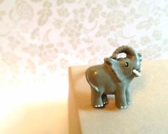 Miniature Elephant Ring. Wildlife. Safari. Miniature Animal. Unique Ring. Adjustable Ring. Wild. Small Animal. Gray. Baby. 10 Dollars.