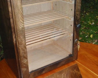 Figured Walnut Humidor for True Cigar Enthusiast (with Extras)