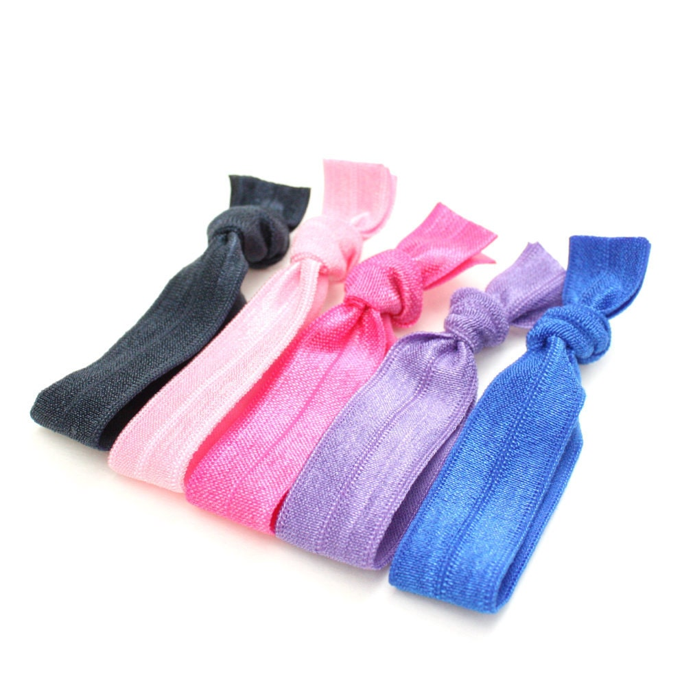 No Dent Hair Ties 5 Yoga Hair Tie Package by PreppyPieces
