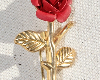 Lovely Vintage Rose Brooch