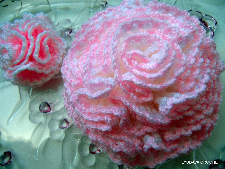 Giant Crochet Flower Pattern : Crochet Flower PATTERN Carnation Crochet 3d Big Flowers DIY