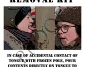 A Christmas Story Frozen Tognue Removal Kit Custom Wine or Spirits Label