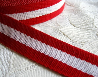 Pink Cotton bag handle, Red and White Cotton Webbing, Bag supply, tote bag handle, Bag strap Handle, woman, Red tote handle