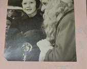 1944 boy pictured with Santa at Frederick & Nelson Seattle 6X7 photo