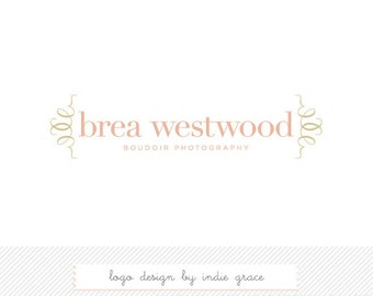 Custom PreDesigned / premade logo design modern boudior photograpahy logo or boutique branding