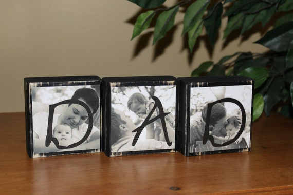 Husband Gift Personalized Christmas Gifts for Dad Husband Gift Mens Personalized Gifts Custom Gifts for Men PHOTO BLOCKS Set of 3