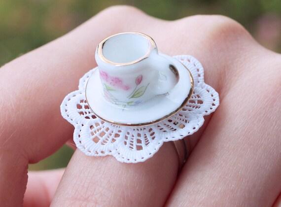 Adjustable Teacup Ring