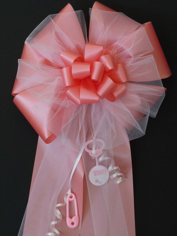 It's a Girl Bow Hospital Door Decor Baby Girl Shower Gift Bow Indoor Outdoor Pink Baby Shower Bow Water Resistant Bow for Newborn Baby Girls