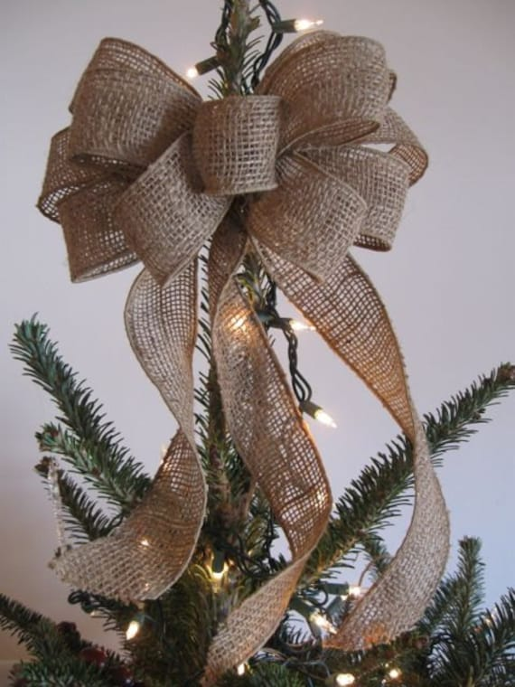 Burlap Bow Tree Topper