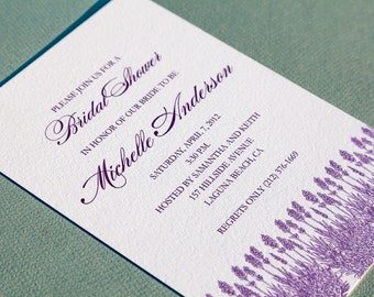 Printable Lavender Bridal Shower Invitation