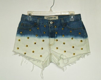Ombre Studded Shorts GAP
