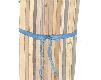 Bundle - original ink and watercolor drawing