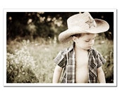 Cowboy portrait photography, Childrens room decor, Nursery decor, Rustic, Texas star boy lone star, 8x12 or 8x10 autumn harvest