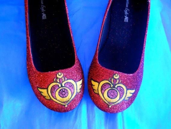 Sailor Moon Glitter Shoes
