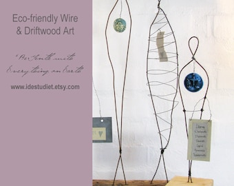 250 Dollar Gift Card - Gift Certificate - Wire Sculptures and Driftwood Art by Idestudiet on Etsy