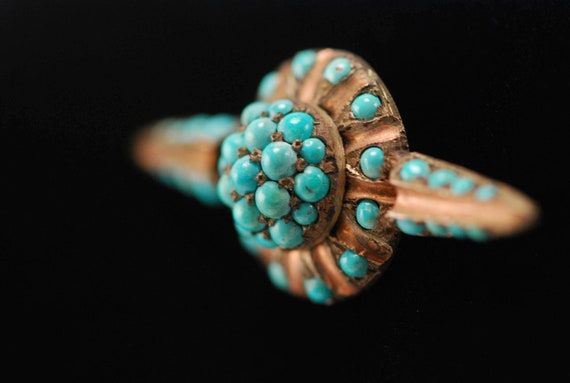 Sterling Vermeil Persian Turquoise Bar Pin