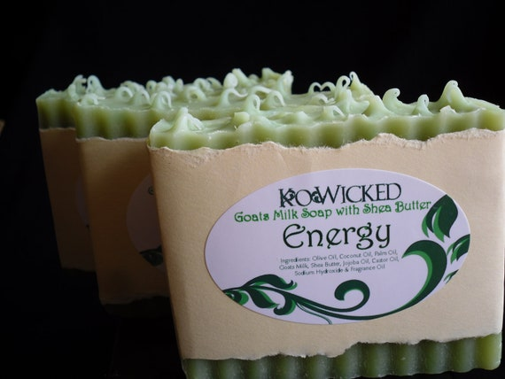 Energy Cold Process Soap with Shea Butter & Goats Milk