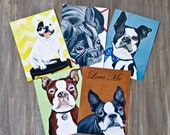 Dogs/5 Postcards -Digital  Print