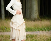 "Wedding dress ""Rosmary"", 100% silk, creme, ivory, custom made"