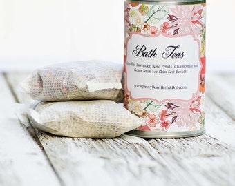 Bath Tea- with Skin Softening Goat's Milk