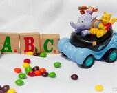 Winnie the Pooh - 12x8 Fine Art Photograph - Lumpy the heffalump the purple elephant, Tigger - Kids, Children's Room Decor - Skittles candy